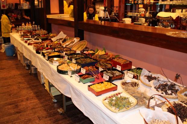 山菜料理の数々